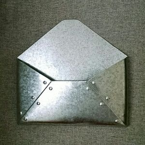 Accessories - Silver Wall Envelope Decoration